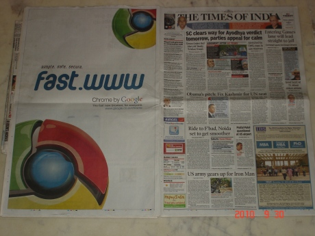 Google Chrome print ad India